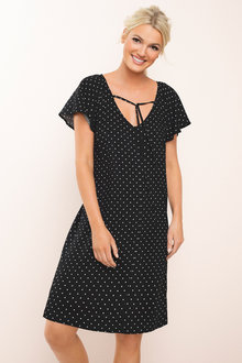 Emerge Flutter Sleeve Dress - 184054