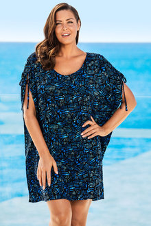 Plus Size - Sara Tie Detail Cover-Up