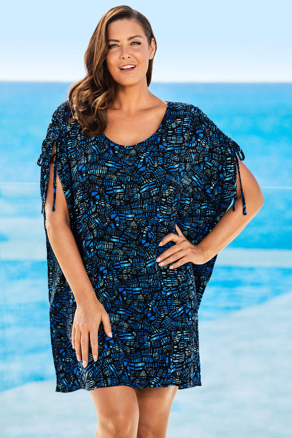 025a9360f6 Plus Size - Sara Tie Detail Cover-Up