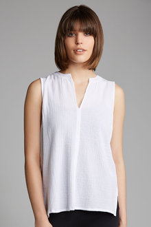 Capture Hi Lo Cotton Gauze Tank - 184131