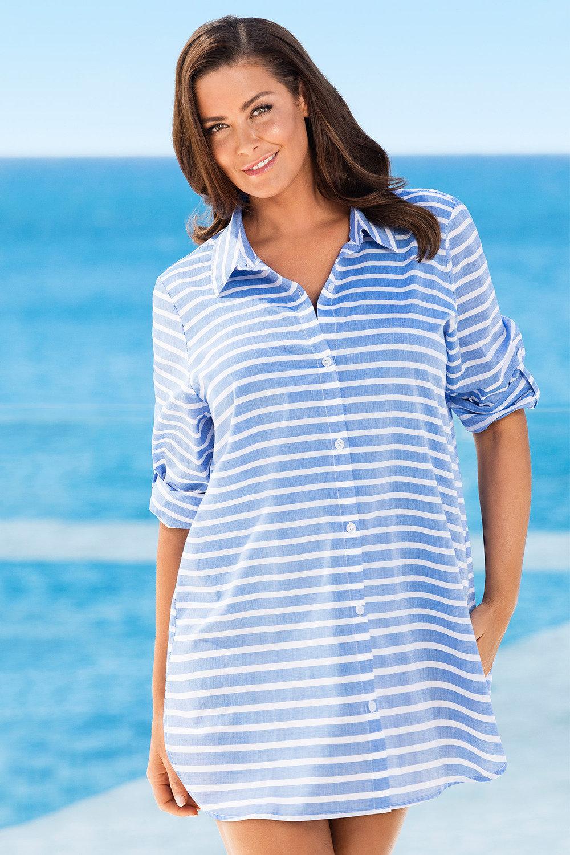 422f7e3948b Plus Size - Sara Beach Shirt