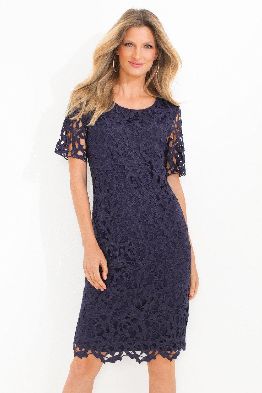 Capture Knit Back Lace Dress Online | Shop EziBuy