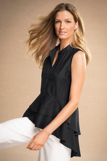 Grace Hill Ruffle Hem Shirt