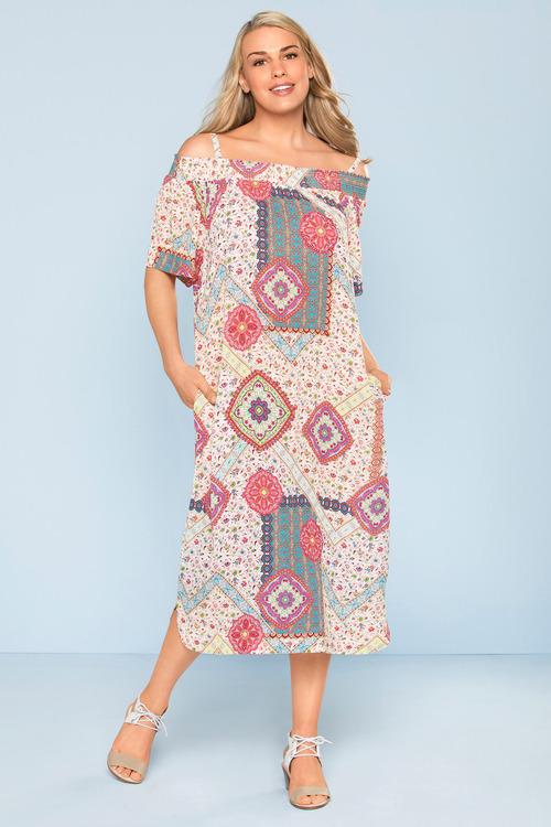 Plus Size - Sara Off The Shoulder Dress