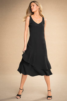 Grace Hill Ruffle Slip Dress - 184170