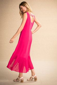 Grace Hill Pleat Hem Dress
