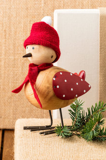 Cosy Christmas Bird Decoration