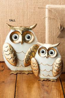 Glitzy Standing Owl