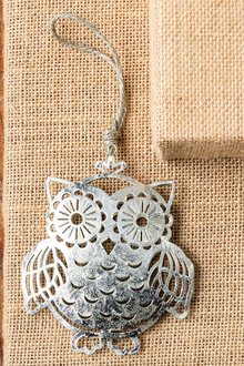 Metallic Owl Ornament