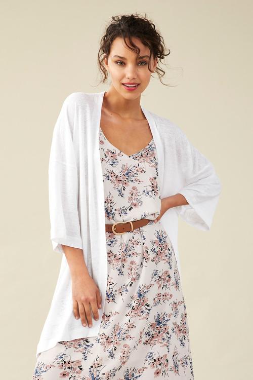 Linen Kimono Cardigan