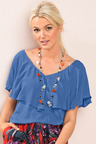 Emerge Ruffle Top