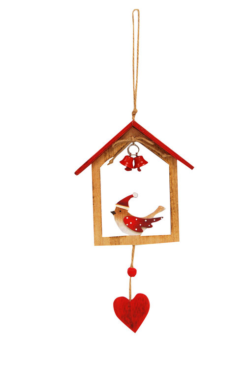 Bird in House Ornament