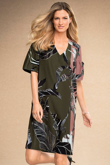 Grace Hill Sleeve Detail Print Shift - 184232
