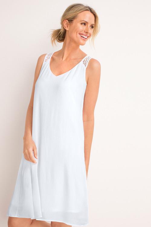 Capture Lace Detail Popover Dress
