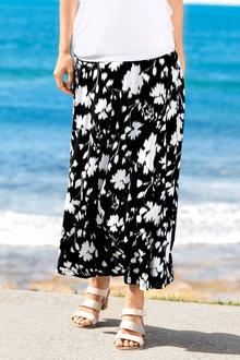 Capture Printed A-line Skirt