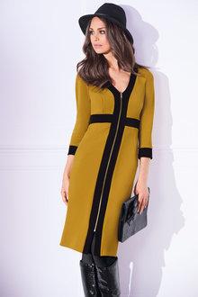 Kaleidoscope Zip Front Dress