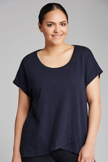 Plus Size - Sara Cross Over Front Tunic