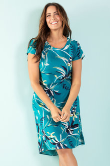 Plus Size - Sara Viscose Shift Dress