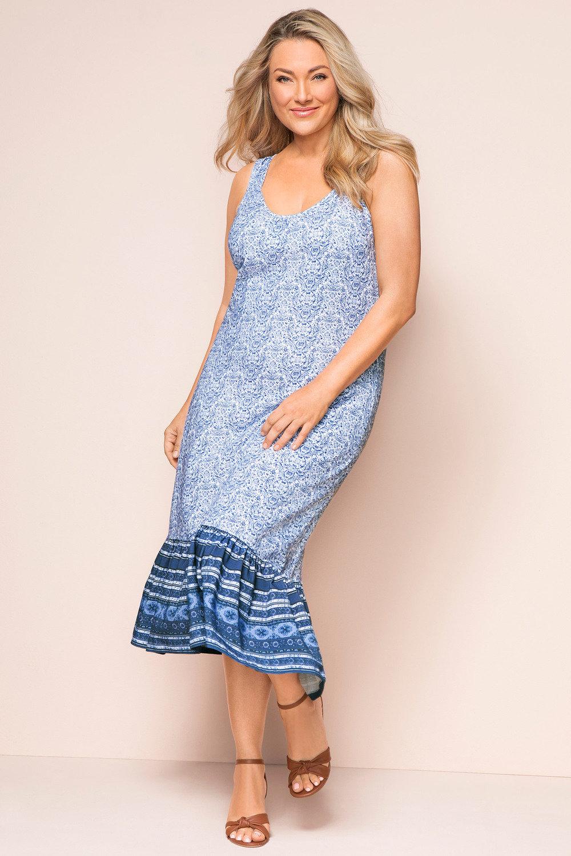 a5c69b4cec0 Plus Size - Sara Eyelet Ruffle Knit Dress