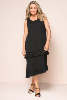 Plus Size - Sara Ruffle Knit Dress
