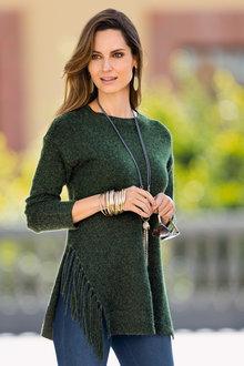 Together Tassel Trim Sweater