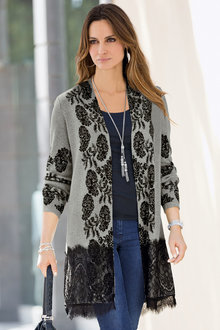 Together Lace Hem Cardigan