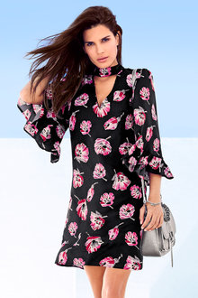 Heine Bell Sleeve Printed Dress
