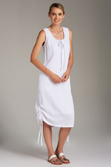 Capture Crushed Cotton Ruched Hem Dress