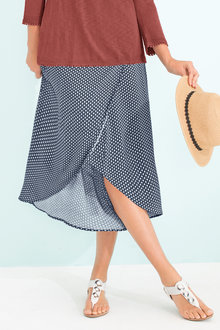 Capture Faux Wrap Skirt - 184347
