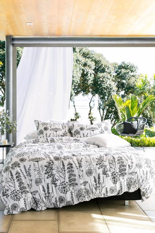 Botanical Linen Duvet Cover Set