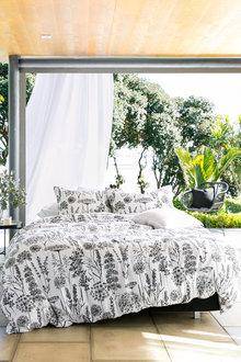 Botanical Linen Duvet Cover Set