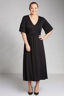Plus Size - Sara Knit Waist Detail Dress