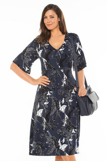 Plus Size - Sara Knit Waist Detail Dress