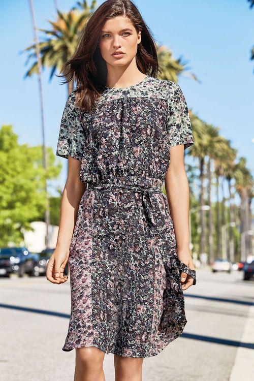 Next Ditsy Print Tea Dress - Petite