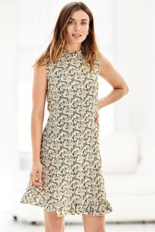 Next Ditsy Sleeveless Dress - Petite