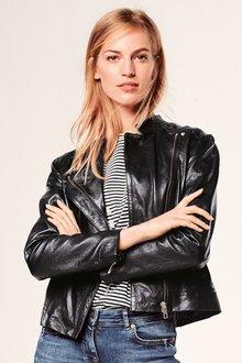 Next Leather Corset Detail Jacket