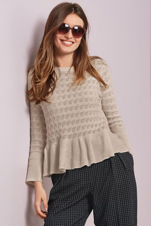 Next Fluted Sleeve Sweater