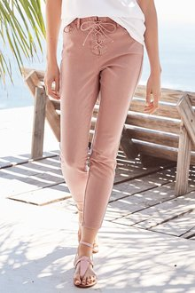 Next Lace Front Trousers - Petite - 184983