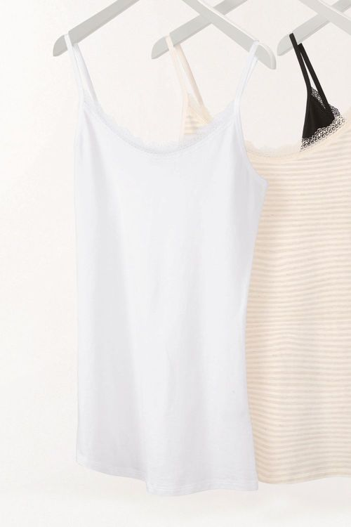 Next Cotton Lace Trim Vest