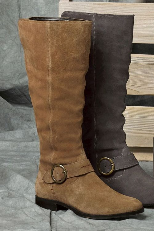 Next Leather Slouch Long Boots