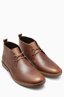 Next Leather Desert Boot