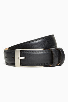 Next Signature Double Loop Leather Belt