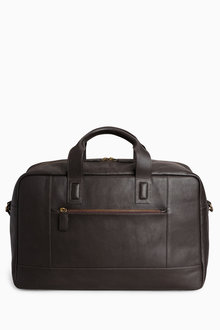 Next Signature Leather Holdall