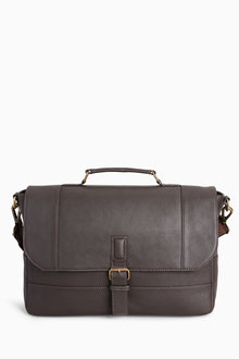Next Signature Leather Briefcase