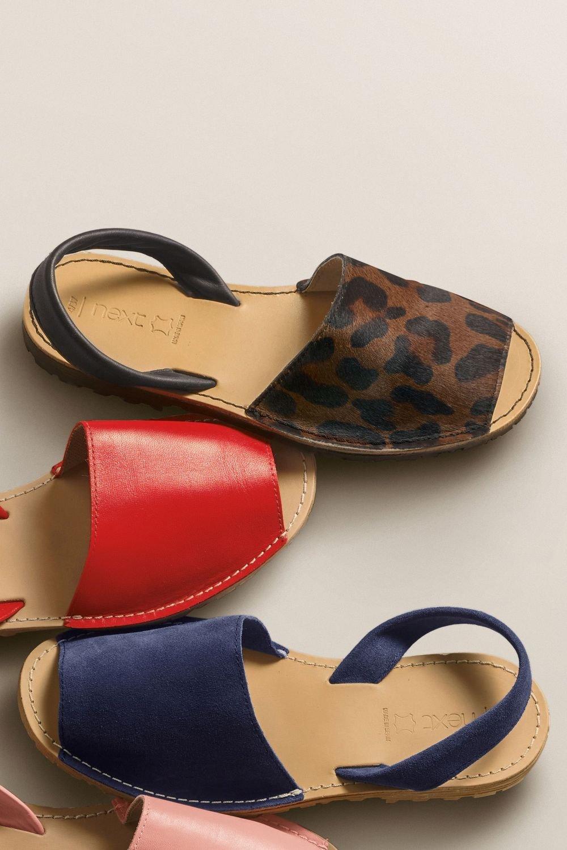 Next Pony Leather Beach Sandals