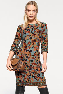 Heine Print Dress with Embellishment