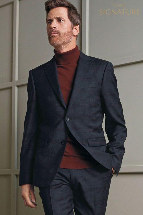 Next Siganture Check Slim Fit Suit: Waistcoat