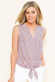 Capture Tie Front Shirt - 185620