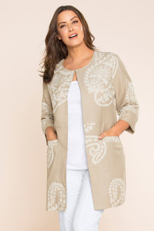 Plus Size - Sara Jacquard Cotton Jacket
