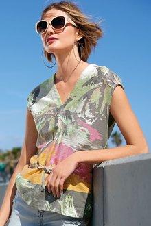 Next Sequin Drawstring T-Shirt
